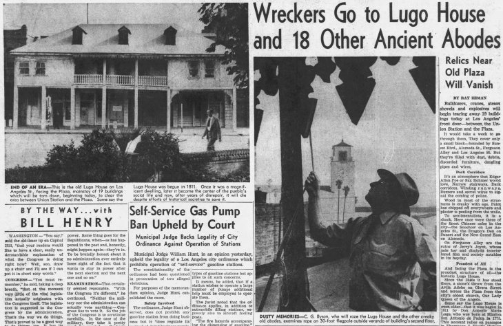 Lugo Adobe razed The_Los_Angeles_Times_Wed__Feb_7__1951_