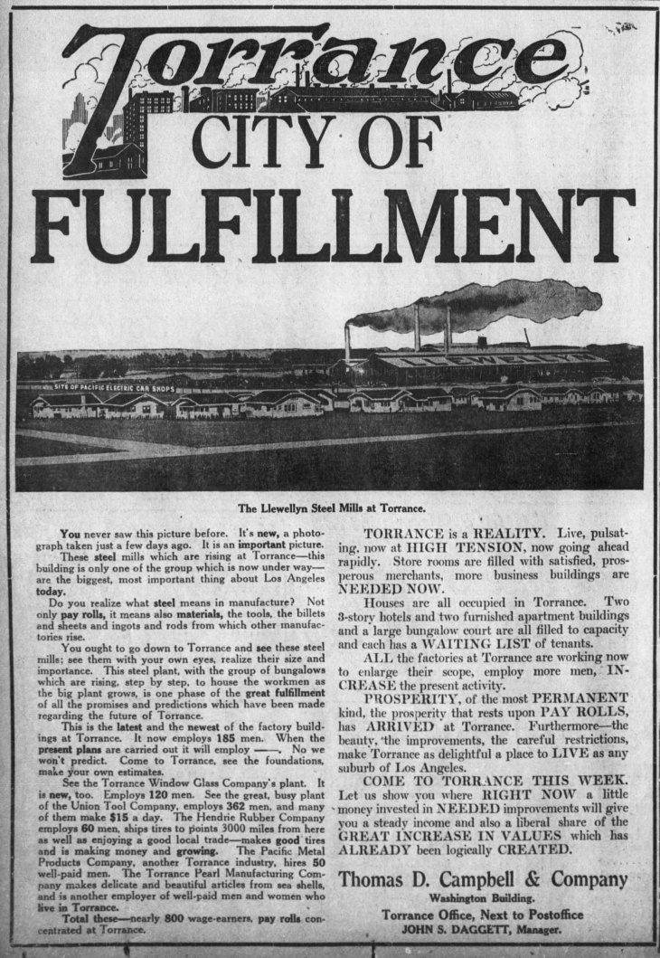 Torrance ad The_Los_Angeles_Times_Sun__Nov_26__1916_