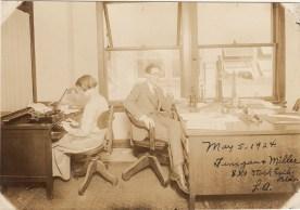 Office work, Los Angeles, 1924.