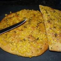 Maisfladen: mit Maismehl im Teig & Maiskörnern on Top