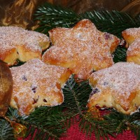 Quark-Stollen-Minis: Sterne am Adventshimmel