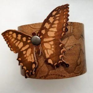 Embossed Butterfly Bracelet