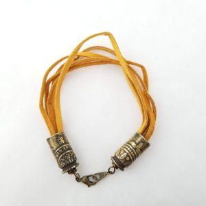 Leather Ammo Bracelet - Tan
