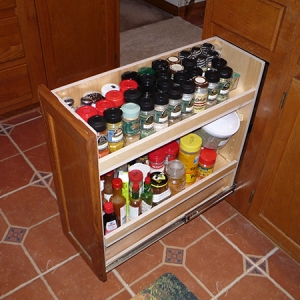 kitchen base cabinet pull outs wooden island narrow spice rack | home decor