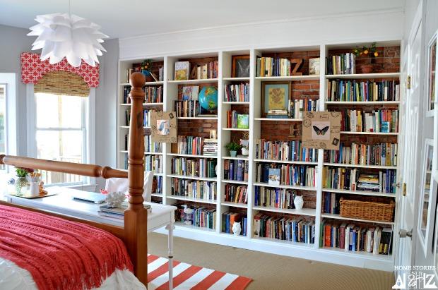 Ikea Billy Builtin Bookshelves {bookcase Styling}