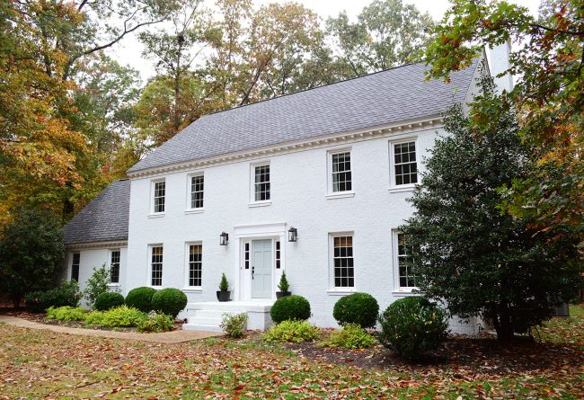 Painted Brick Home Exterior Makeover Before And After Ideas