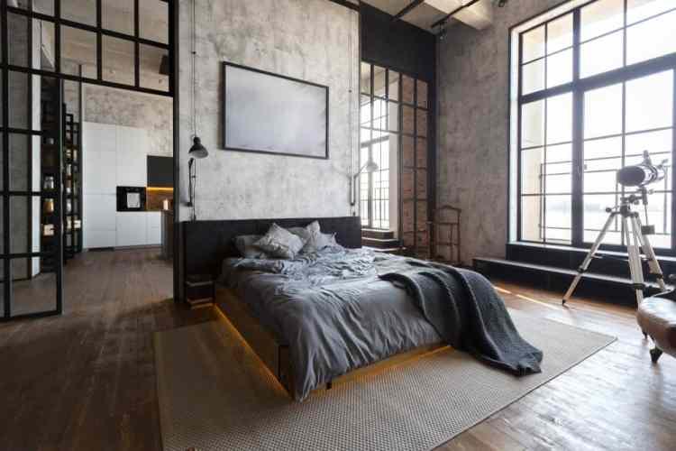 71 Industrial Style Primary Bedroom Ideas Photos