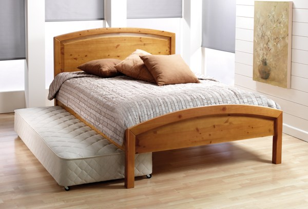 Twin Bed with Pop Up Trundle for Adults