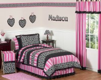 Black white and pink bedroom ideas | Home Trendy