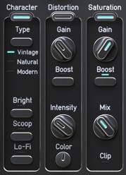 Audified ToneSpot Voice Pro Review Character, Distortion and Saturation controls