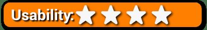 Usability 4 Stars