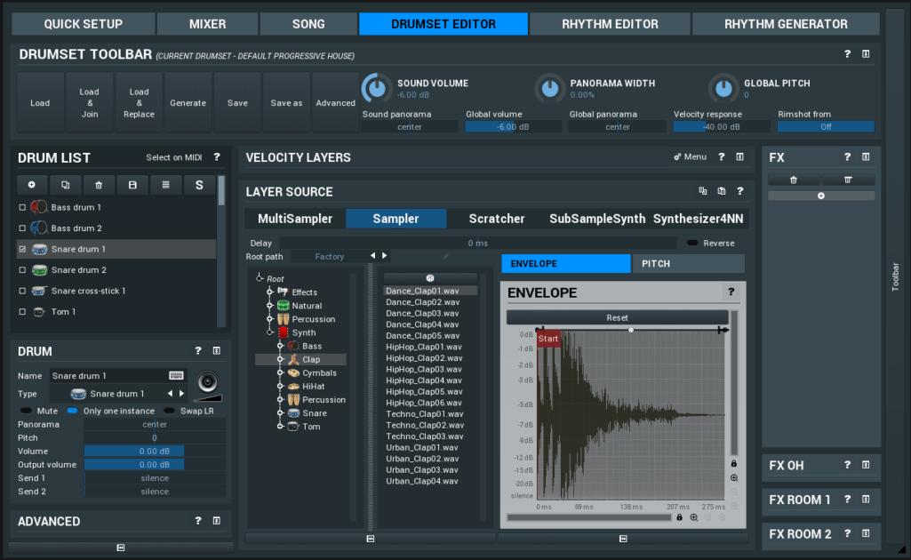 MeldaProductions MDrummer Drumset Editor