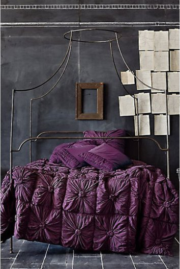 Color Forecast Pantone Spring 2014 Color Report Bedroom with Magenta Purple Bedding Modern Design Tile Floors