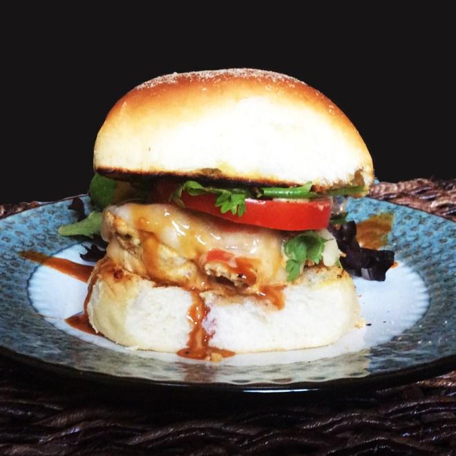 Pandesal Chicken Burgers