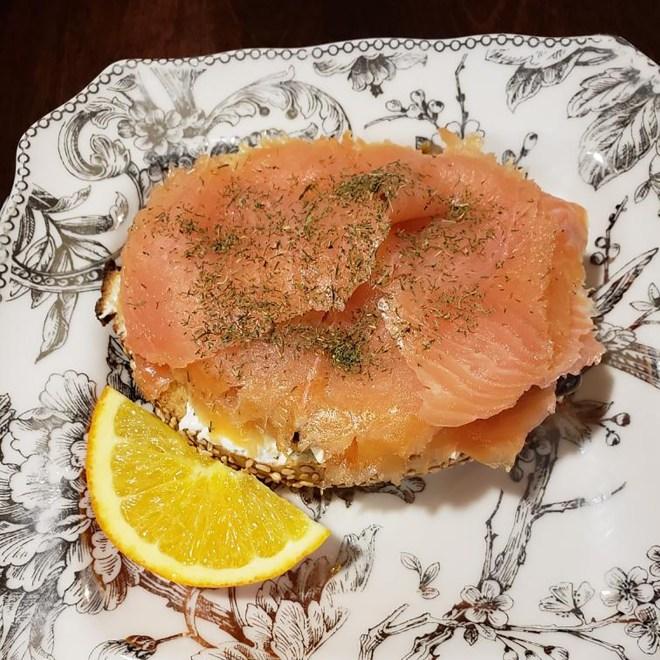 Smoked Salmon on Bagel
