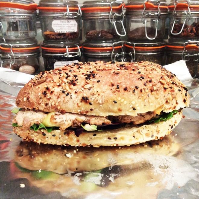 Sourdough Harvest Sub Rolls with Miso Tuna