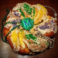 Raspberry Cream Cheese King Cake