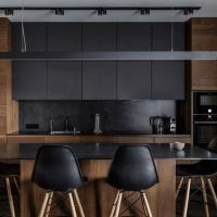 30+ The Argument About Mater High Stool In A Beautiful Dark Kitchen At Skylevel Showroom 13