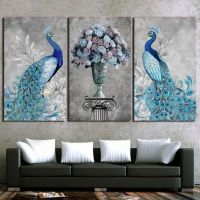 36+ Custom 3d Wall Paper For Living Room Embossed Golden Peacock 3d Mural Wallpaper 40