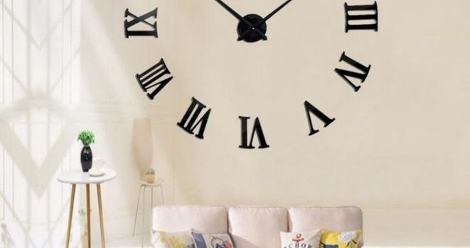 +31 Kids, Work and Oversized Metal Electroplate Home Decor DIY Round Wall Clock