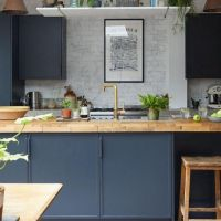 +36 Choosing Good Dark Grey Kitchen With A Natural Stone Top 2