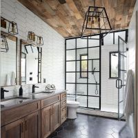 12+ Aesthetic Rustic Farmhouse Bathroom Ideas