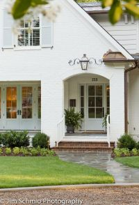 painted brick exterior | home sweet blog