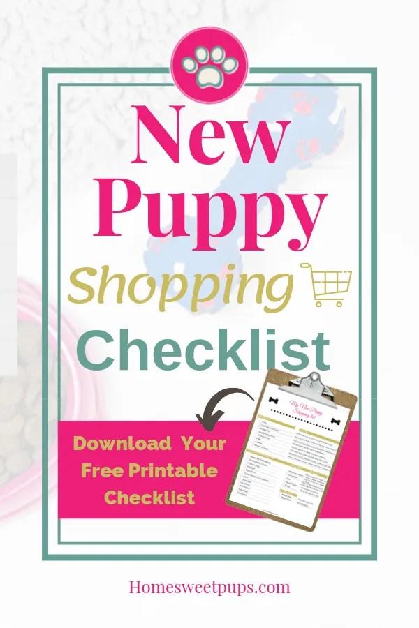 New Puppy Shopping Checklist