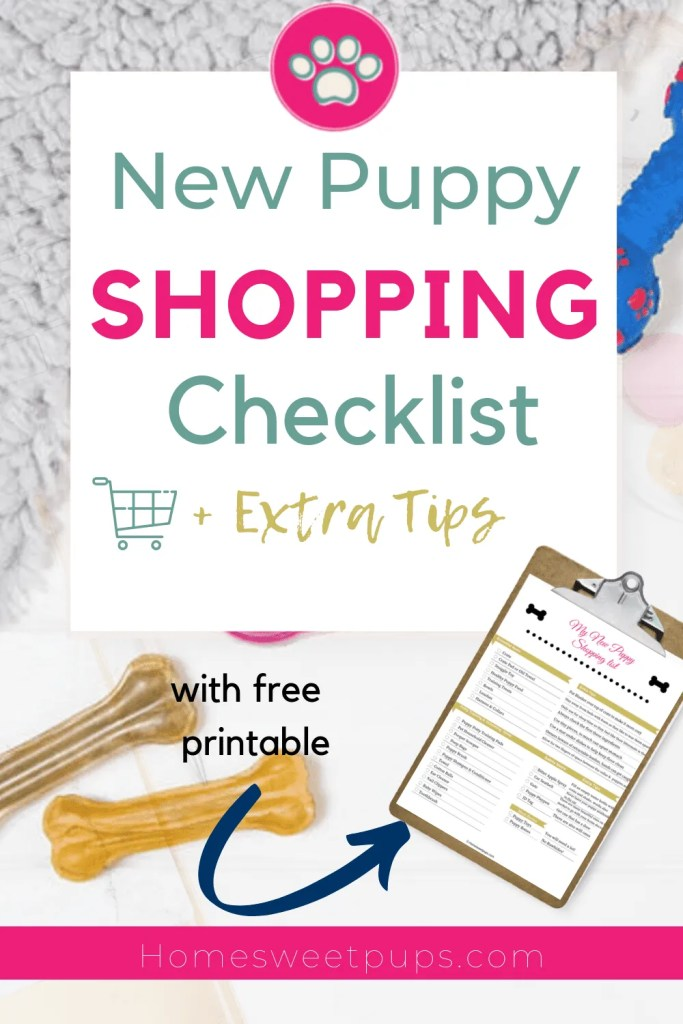 New Puppy Shopping Checklist for your new puppy