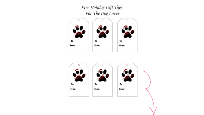 free holiday gift tags for the dog lover