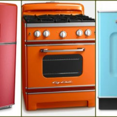 Colored Kitchen Appliances Wall Shelves