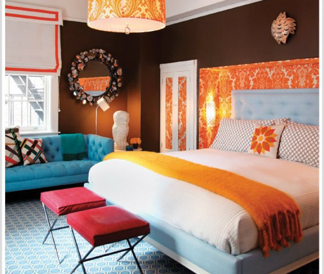 Style At Home Jonathan Adler Bedroom Triadic Color Scheme