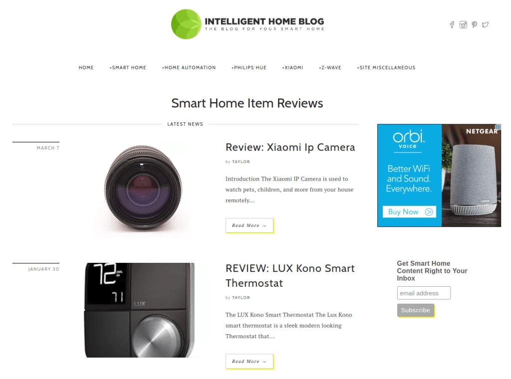 http://intelligenthomeblog.com/smart-home-item-reviews/