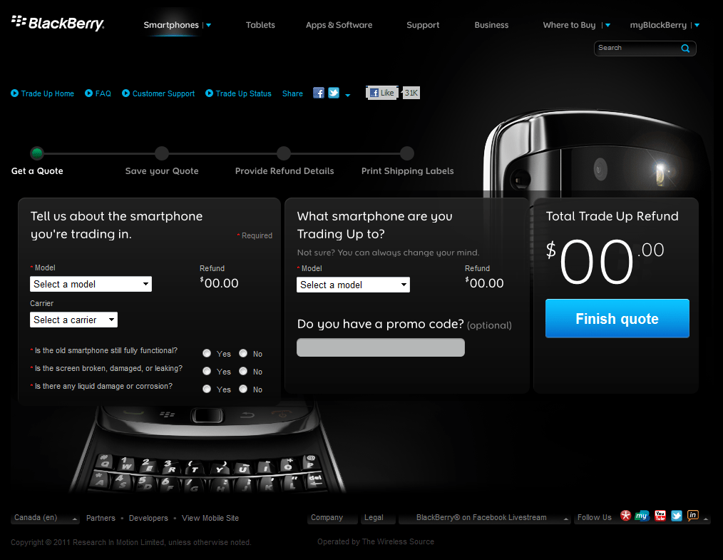 Trade-in your BlackBerry