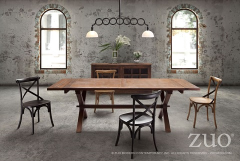 black cross back dining chairs graco high chair duodiner old meets new retro union square from zuo modern