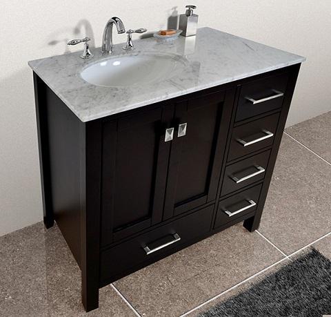 bathroom vanity top with offset sink