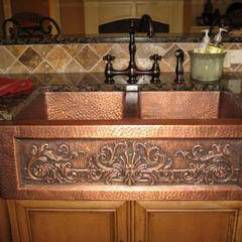 Copper Sink Kitchen Faucet Touchless Sinks Shine With Easy Maintenance