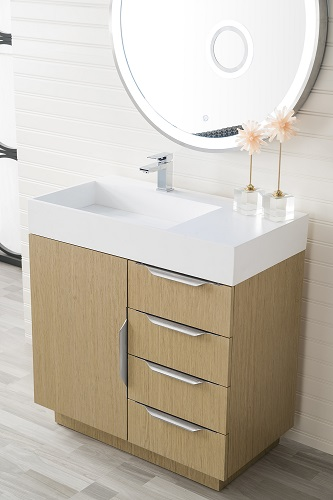 60 inch bathroom vanity with offset