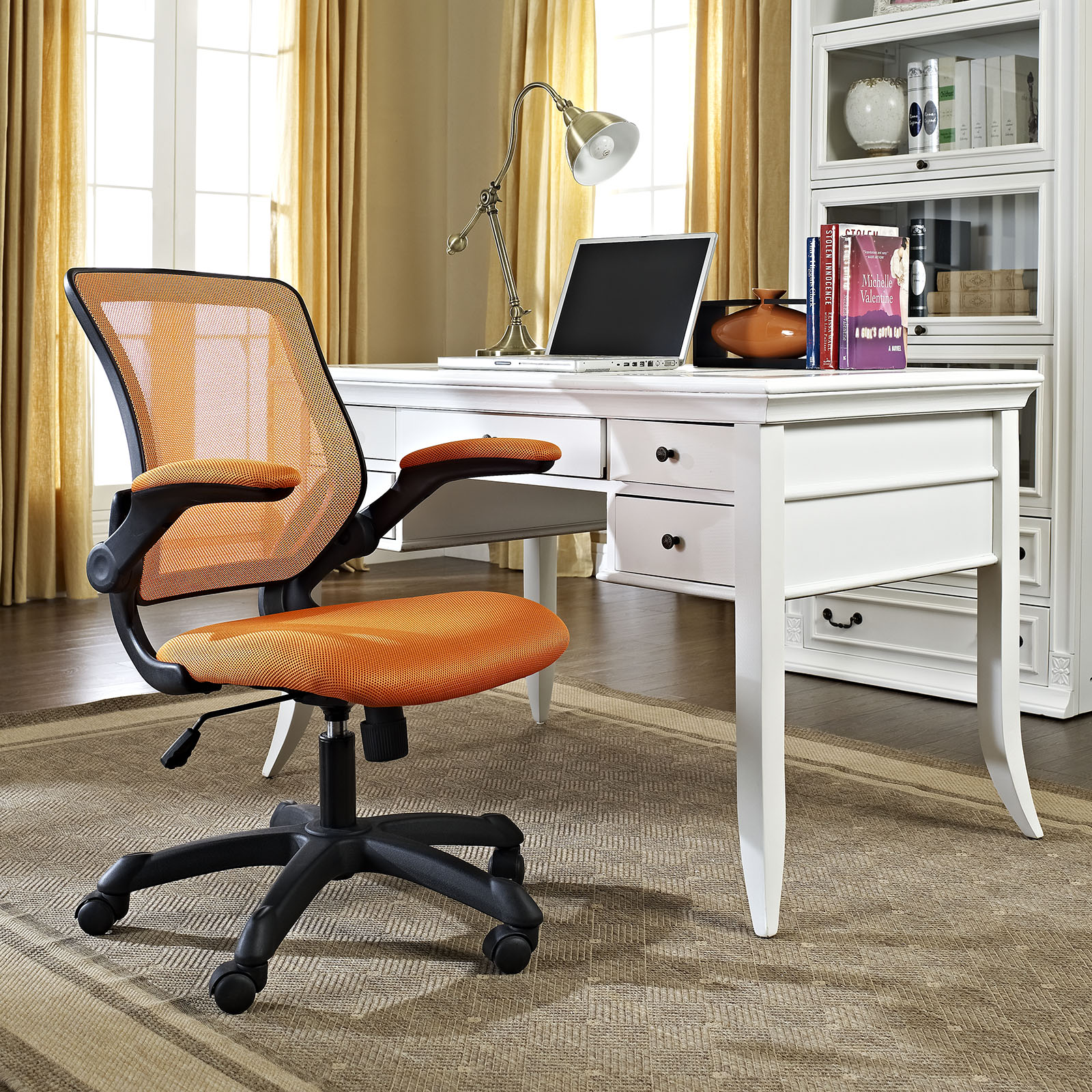 Orange Office Chairs Veer Mesh Office Chair Orange