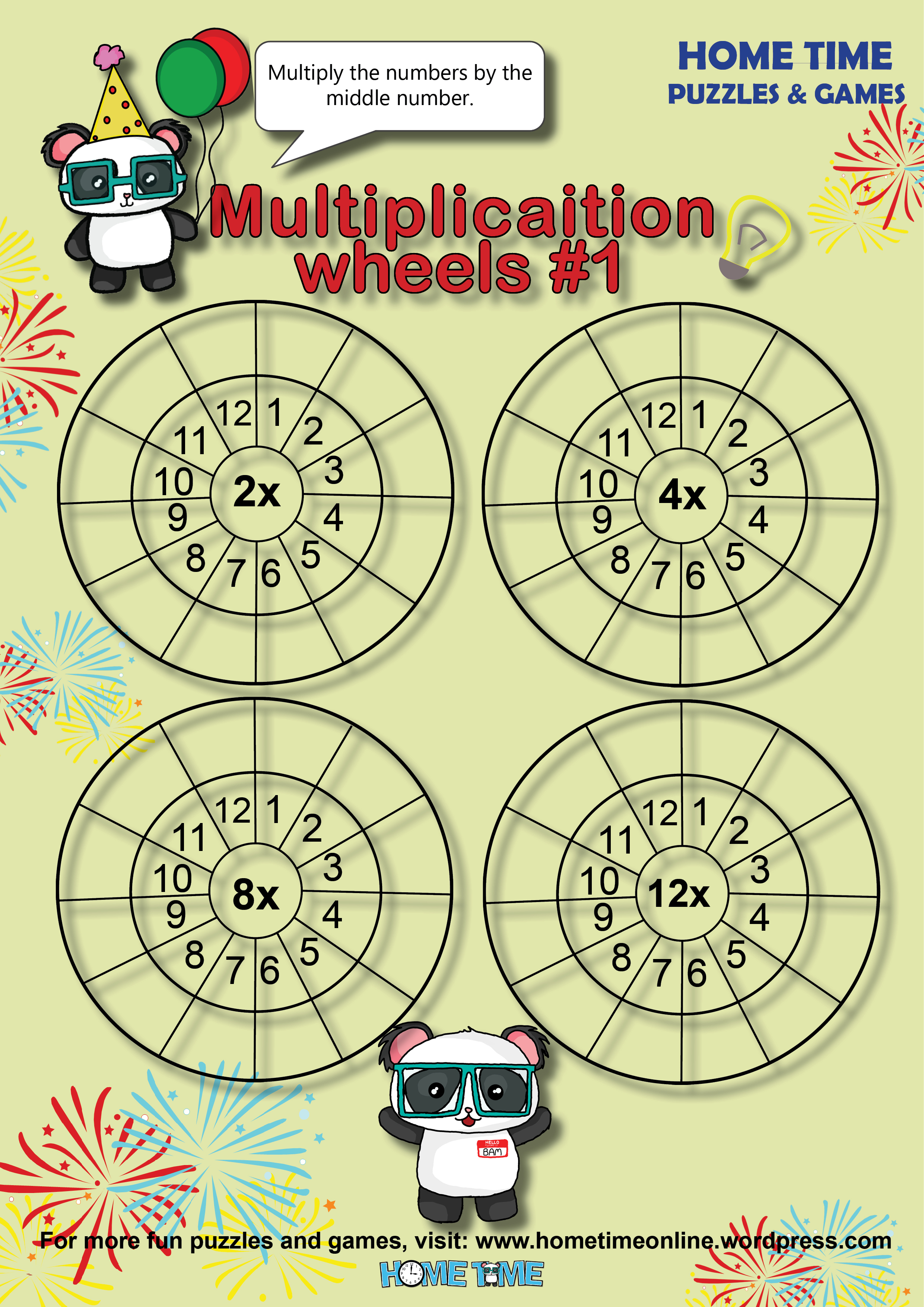 Multiplication Wheels 1