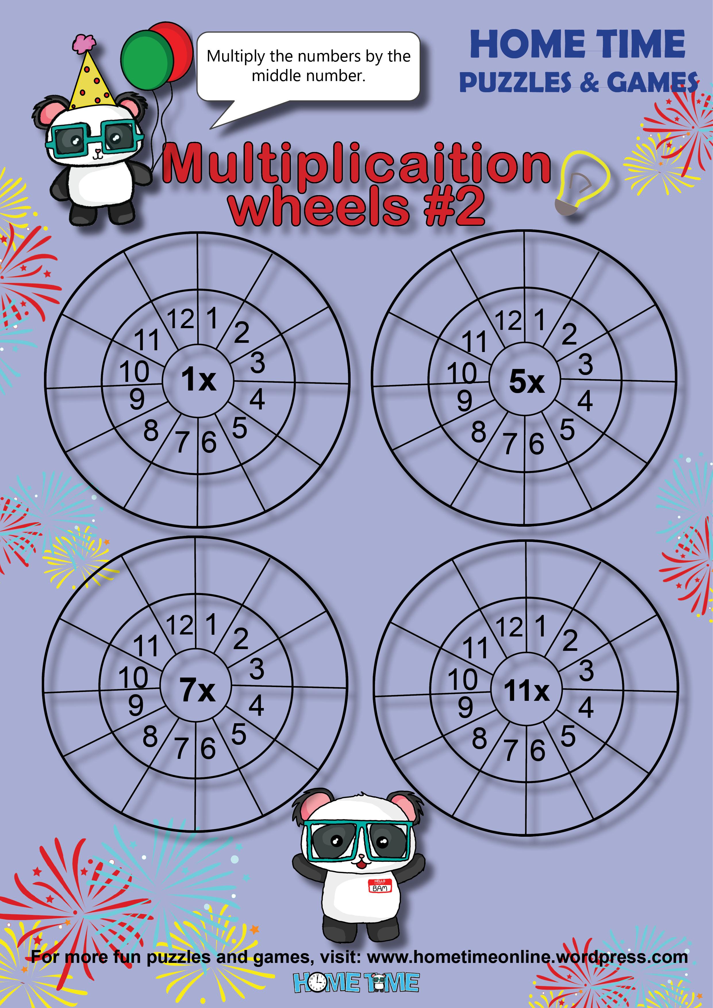 Multiplication Wheels 2