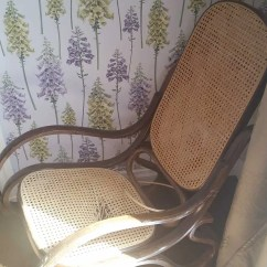 Bent Wood Rocking Chair Wingback Recliner Australia Vintage Bentwood Makeover Thonet Rocker Hole In Cane