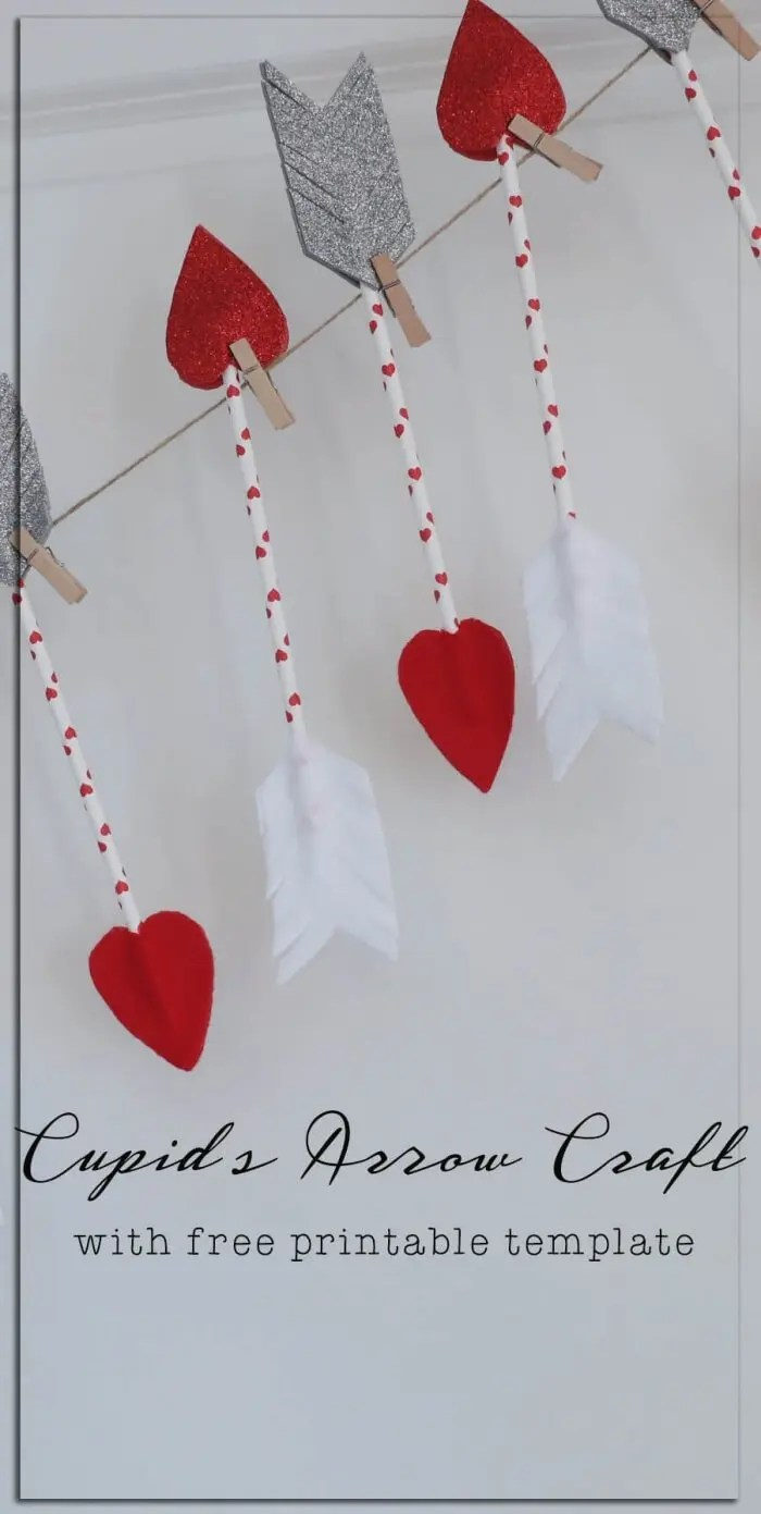 Cupids Arrow Valentines Day Craft With Template