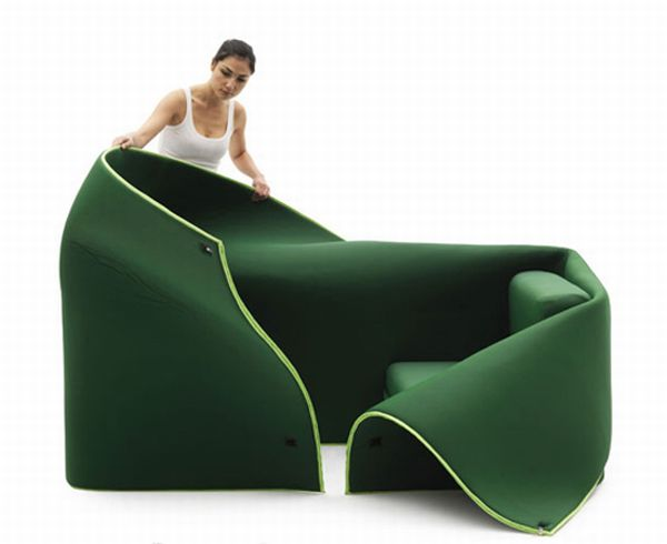 flexible and cozy sofa by campeggi