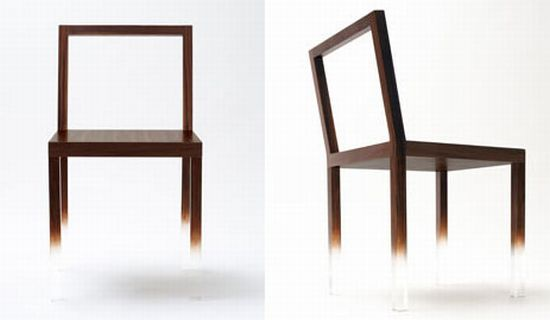 invisible painted concept chair