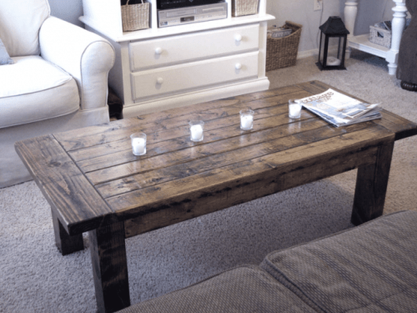 old door into a stylish coffee table