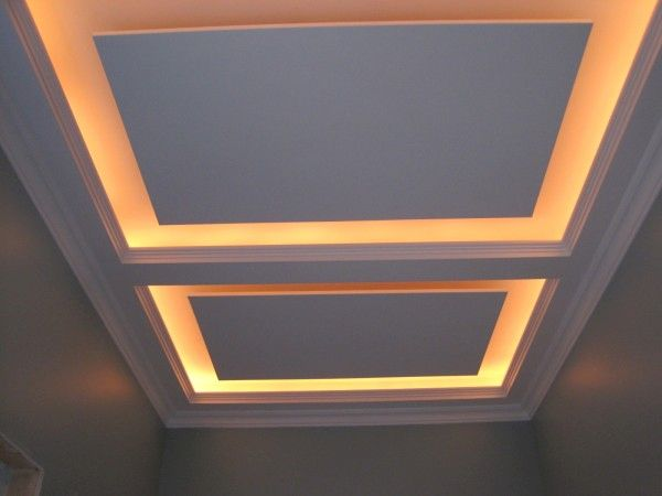 smart way to highlight the tray ceiling