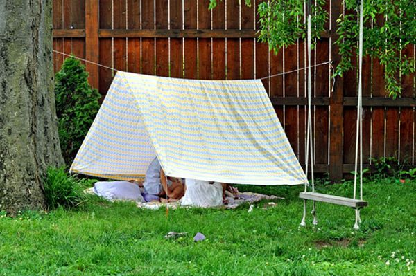 build tents out of bed sheets