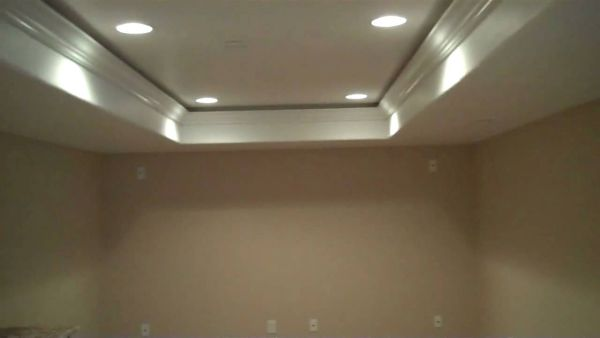 Combination of inverted and recess ceiling
