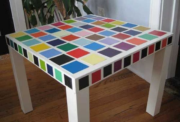 Paint swatch coffee table